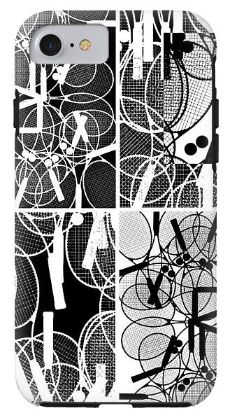 Bunch Of Tennis Racket Poster - Phone Case - Design Forms Of Art