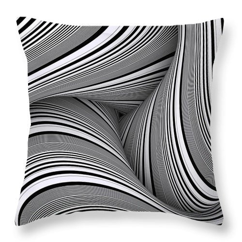 Curvemazing Stripeallization - Throw Pillow - Design Forms Of Art
