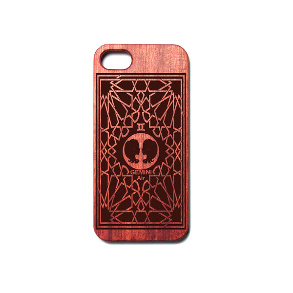 Zodiac GEMINI - Rosewood iPhone Case - Design Forms Of Art