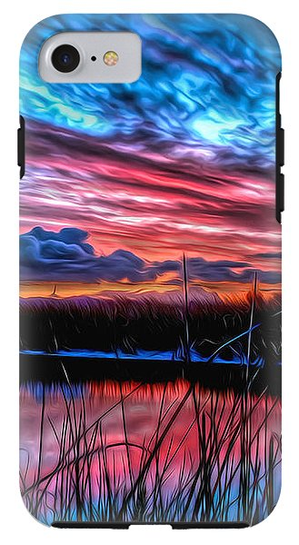 Clouds Blazing Sunset - Phone Case - Design Forms Of Art