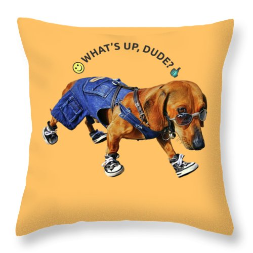 Dog Dude - Throw Pillow - Design Forms Of Art
