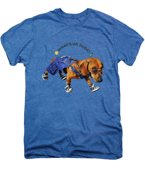 Dog Dude - Men's Premium T-Shirt - Design Forms Of Art