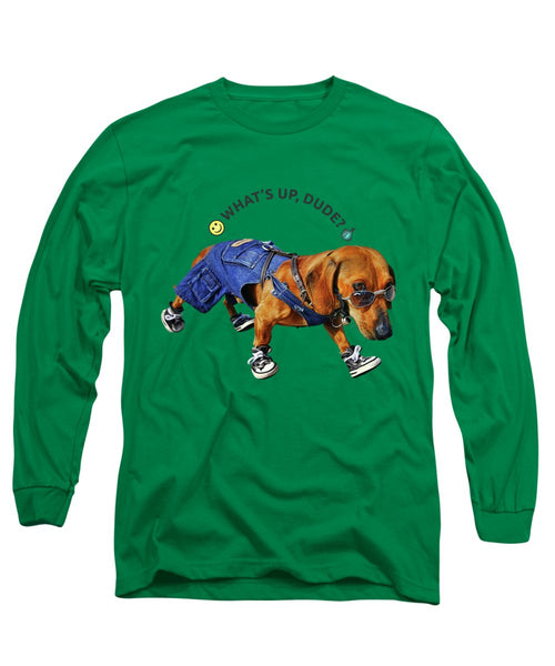 Dog Dude - Long Sleeve T-Shirt - Design Forms Of Art