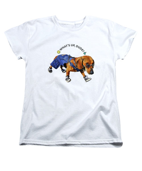 Dog Dude - Women's T-Shirt (Standard Fit) - Design Forms Of Art