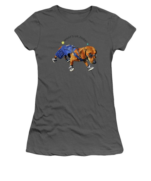 Dog Dude - Women's T-Shirt (Athletic Fit) - Design Forms Of Art