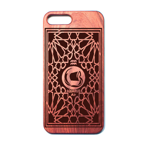 Zodiac AQUARIUS - Rosewood iPhone Case - Design Forms Of Art