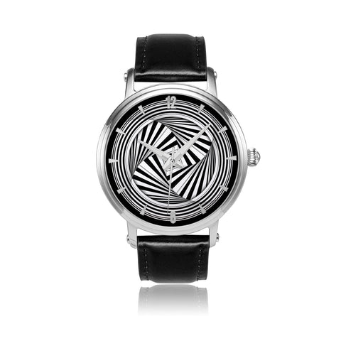 Hypno Swirl Square - Aa • Luxury Art Watch - Design Forms Of Art