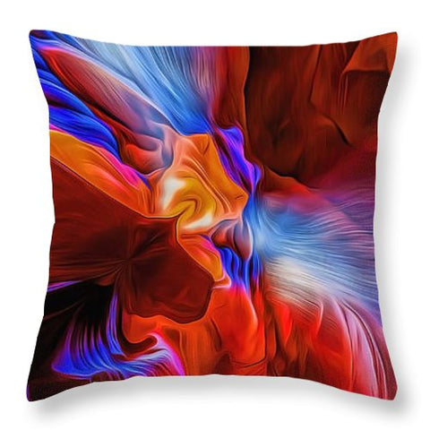 Explosion Of Colors - Throw Pillow - Design Forms Of Art