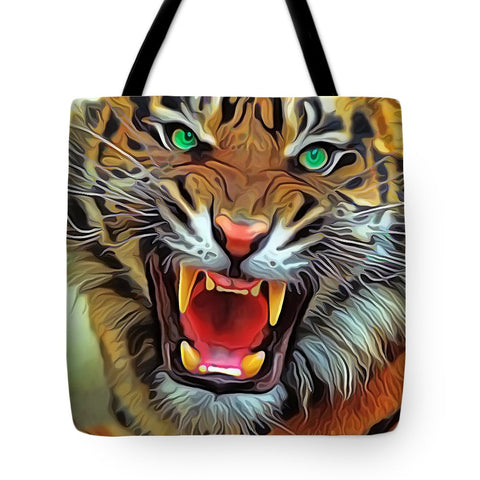 Eye Of The Tiger - Tote Bag - Design Forms Of Art