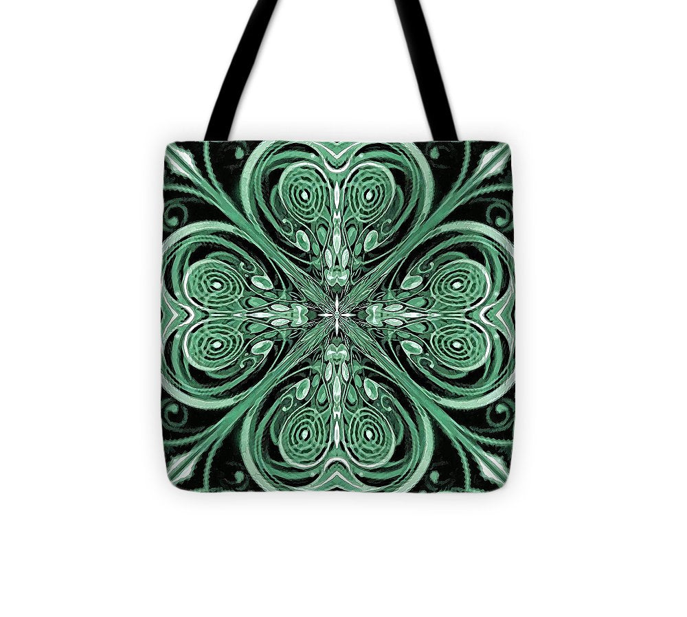 Four Leaf Clover - Tote Bag - Design Forms Of Art