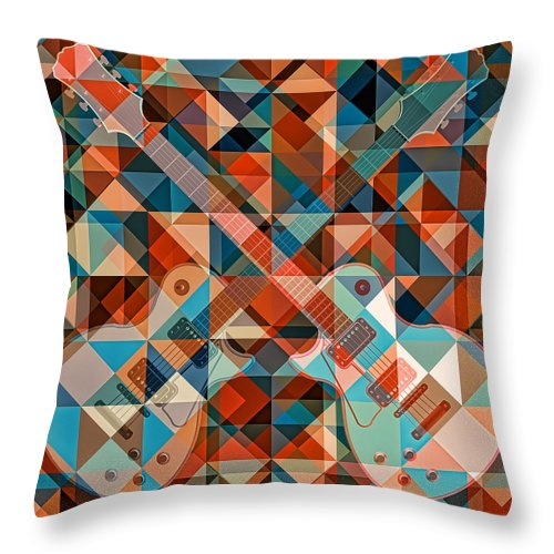 Find The Summer Guitar - Throw Pillow - Design Forms Of Art