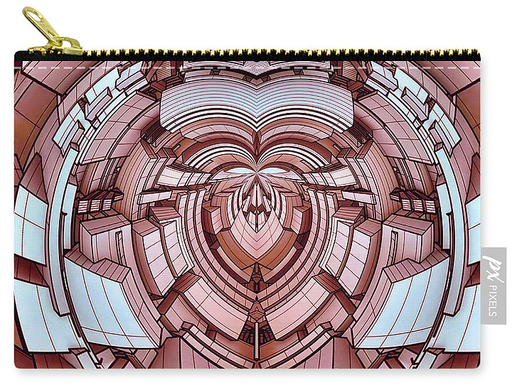 Futur-heart-megacitylopolis - Carry-All Pouch - Design Forms Of Art