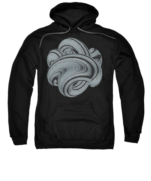 Geometric Twisted Wave Black And White Shape - Sweatshirt - Design Forms Of Art