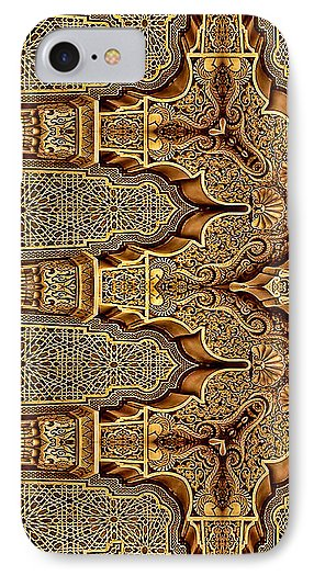 Golden Facade Of Pillars - Phone Case - Design Forms Of Art