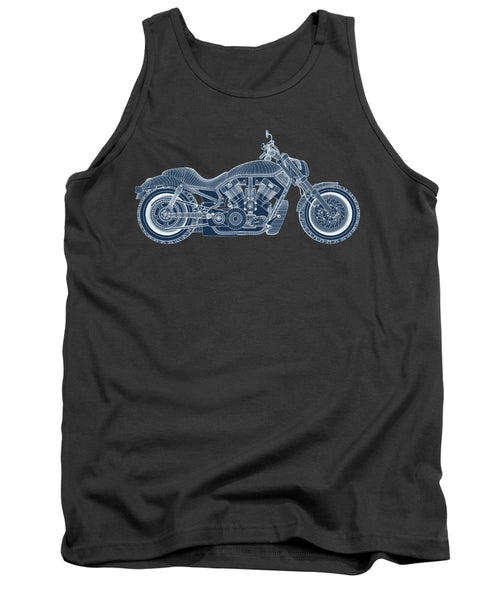 Motorcycle - Tank Top - Design Forms Of Art