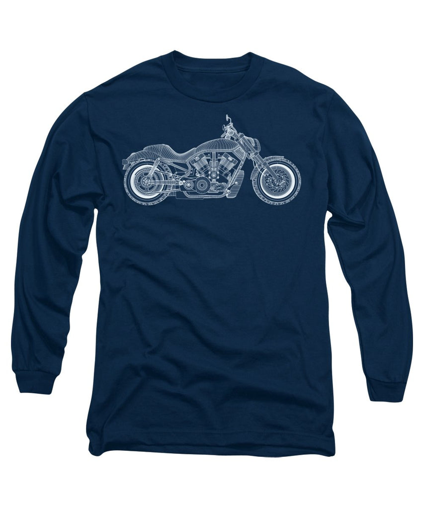 Motorcycle - Long Sleeve T-Shirt - Design Forms Of Art