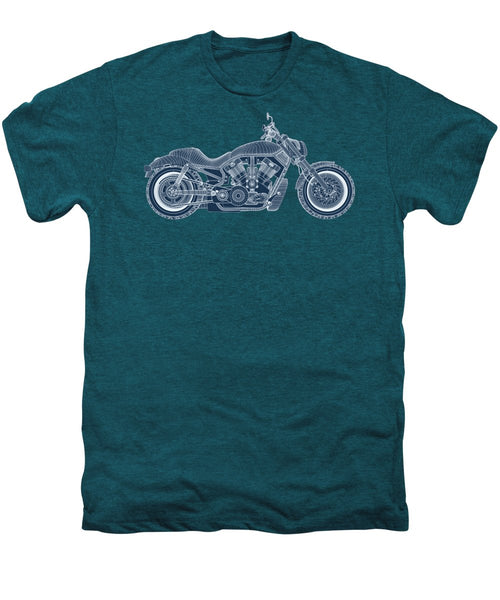Motorcycle - Men's Premium T-Shirt - Design Forms Of Art
