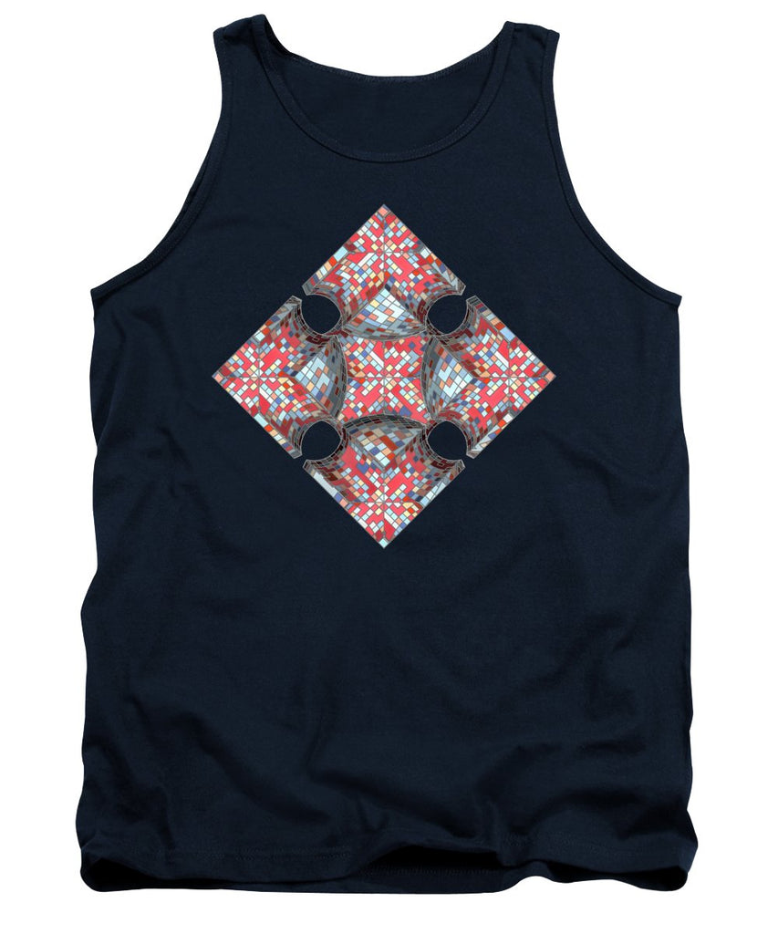 Hipster Mosaic Compass - Tank Top - Design Forms Of Art