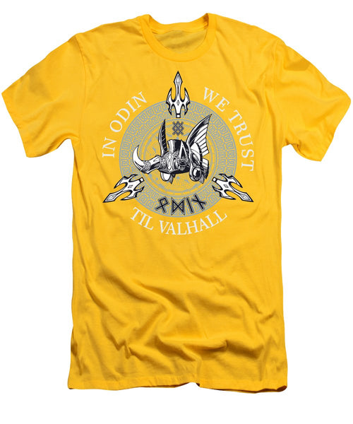 In Odin We Trust - Men's T-Shirt (Athletic Fit) - Design Forms Of Art