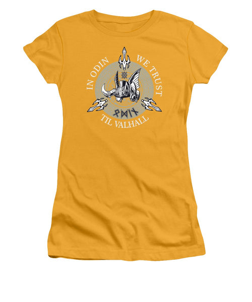 In Odin We Trust - Women's T-Shirt (Athletic Fit) - Design Forms Of Art
