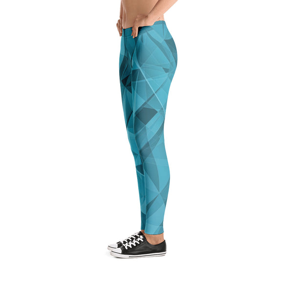Blue Sky Crystallization - Leggings - Design Forms Of Art