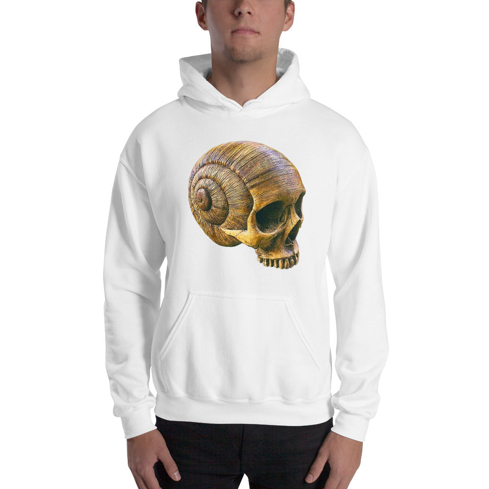 Halloween Skeleton Skull Snail Shell - Hooded Sweatshirt - Design Forms Of Art
