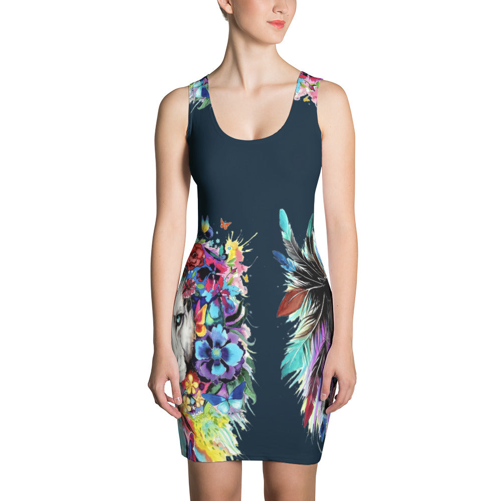 Twin Lion - Sublimation Cut & Sew Dress - Design Forms Of Art