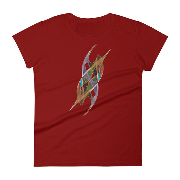 Steeply Shapeallization - Women's short sleeve t-shirt - Design Forms Of Art