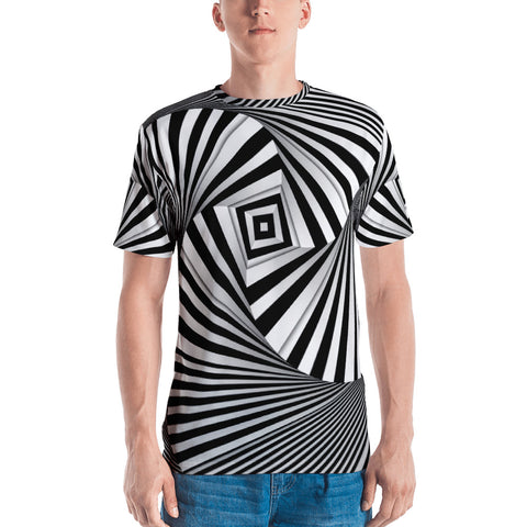 Hypno Square - Sew Men's T-Shirt - Design Forms Of Art