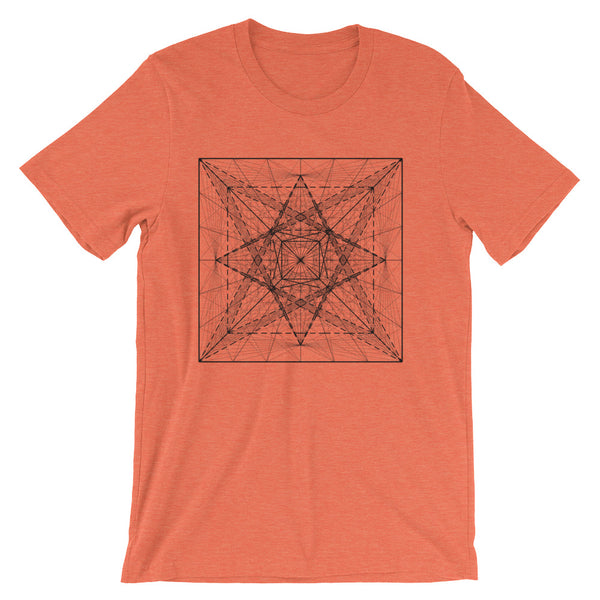 Cube And Pyramid On Its Six Sides - Short-Sleeve Unisex / Men T-Shirt - Design Forms Of Art