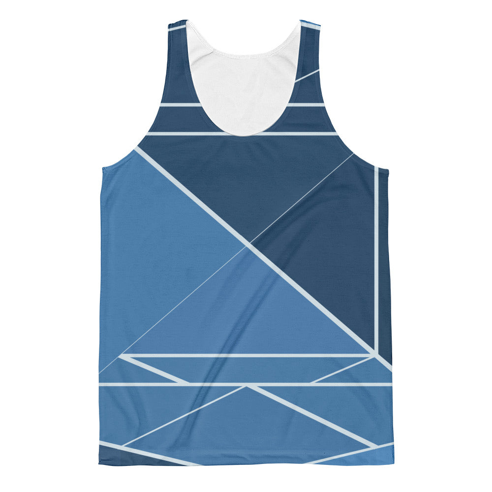 Hipster Blue - Unisex Classic Fit Tank Top - Design Forms Of Art