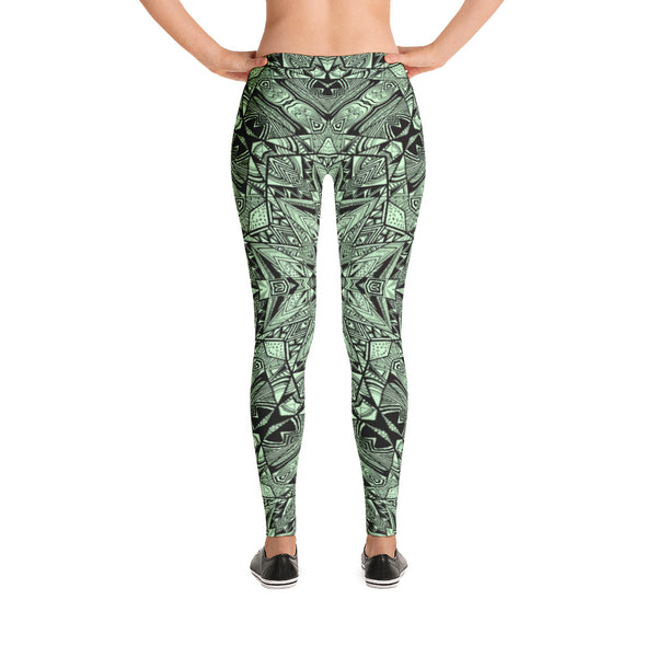 Aztec Navajo Wall - Leggings - Design Forms Of Art