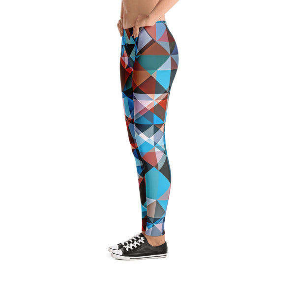 Hipster Triangle Colorization - Leggings - Design Forms Of Art