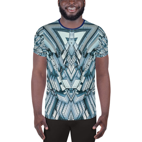 Futuristic Megalopolis City • All-Over Print Men's Athletic T-shirt - Design Forms Of Art