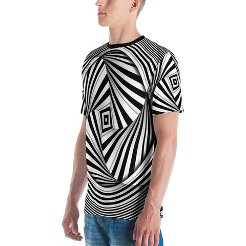 Hypnotic SQUARE CIRCLE • All-Over Print Men's T-shirt - Design Forms Of Art