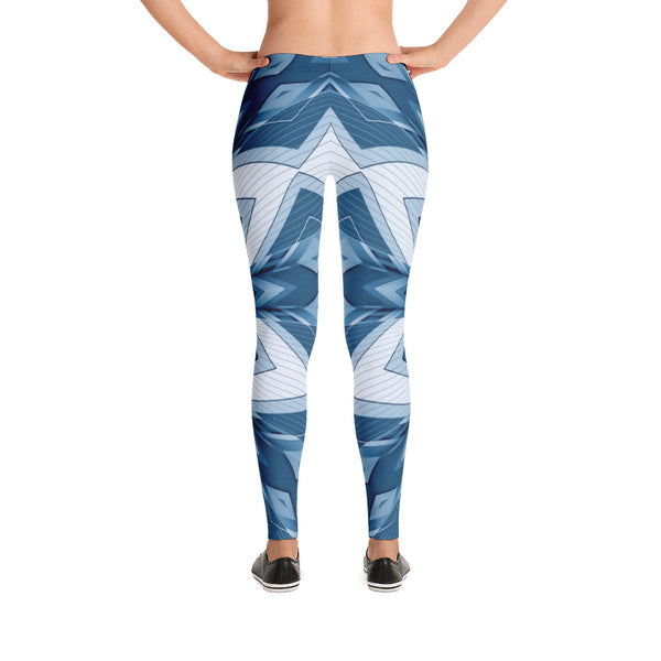 Blue Ornamentallization - Leggings - Design Forms Of Art