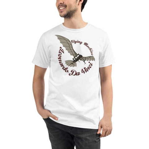 Leonardo Da Vinci Glider - A • Organic T-Shirt - Design Forms Of Art