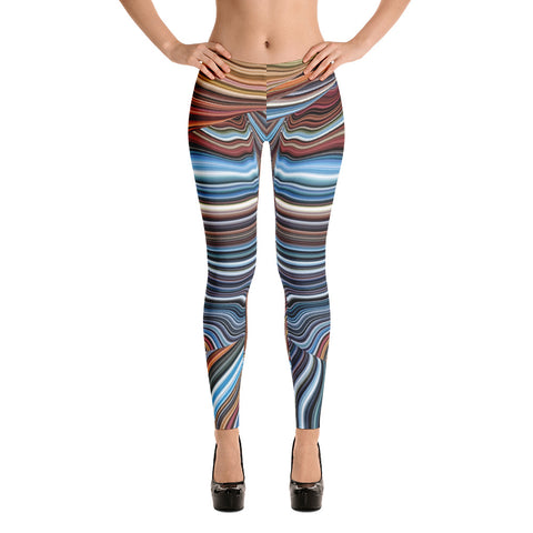 Colorful Horizon  - Leggings - Design Forms Of Art