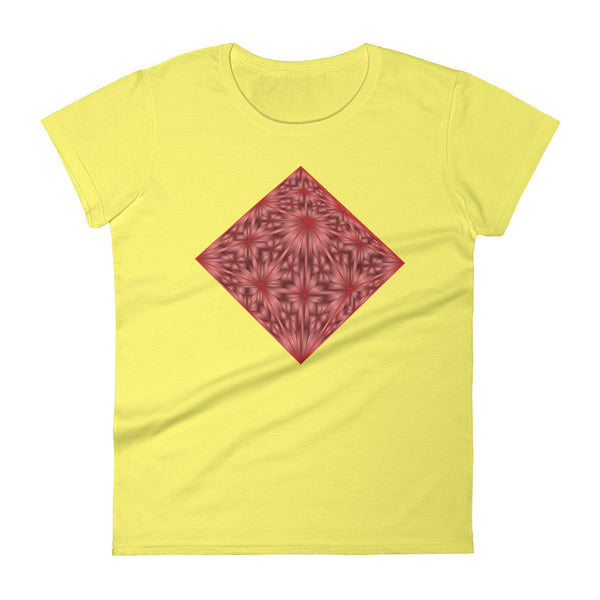Diamond Red Crystal - Women's short sleeve t-shirt - Design Forms Of Art