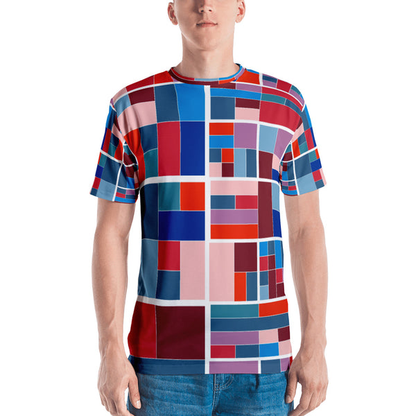Quadraticolor - Sew Men's T-shirt - Design Forms Of Art