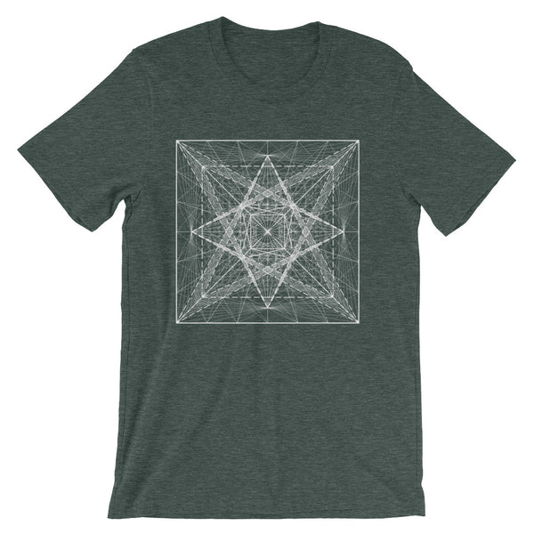 Cube And Pyramid On Its Six Sides - Short-Sleeve Unisex T-Shirt - Design Forms Of Art