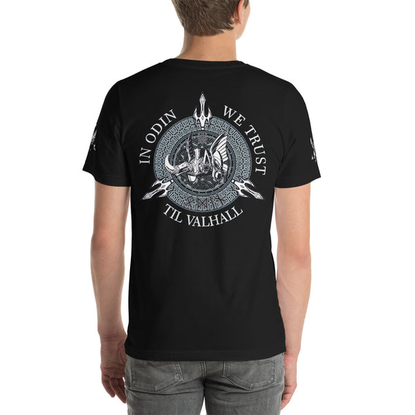 Back To Back - Thor And Odin • Short-Sleeve Unisex T-Shirt - Design Forms Of Art