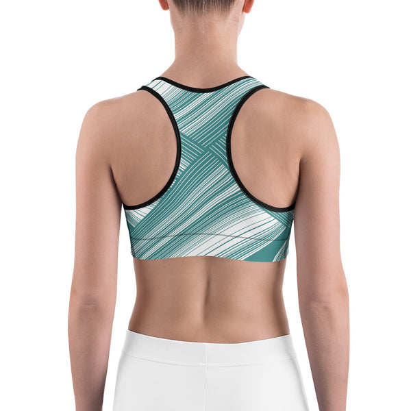 Four Triangle Round - Sports bra - Design Forms Of Art