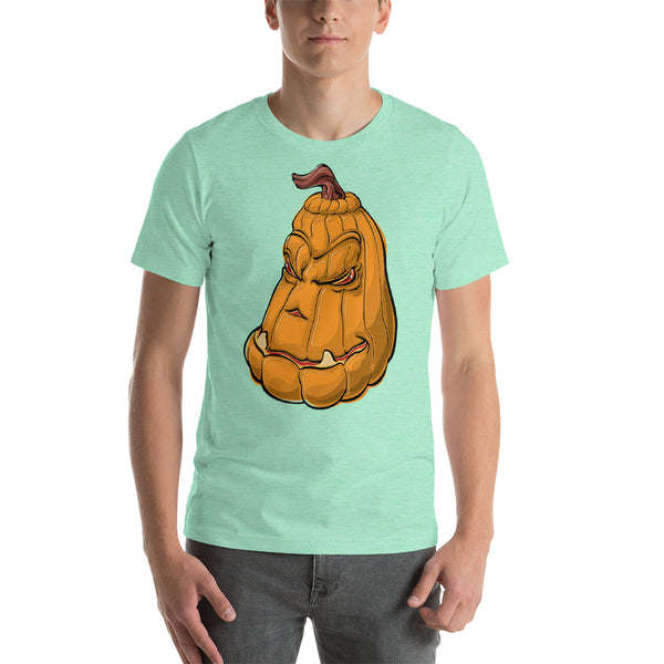 Halloween Evil Pumpkin - Short-Sleeve Unisex T-Shirt - Design Forms Of Art