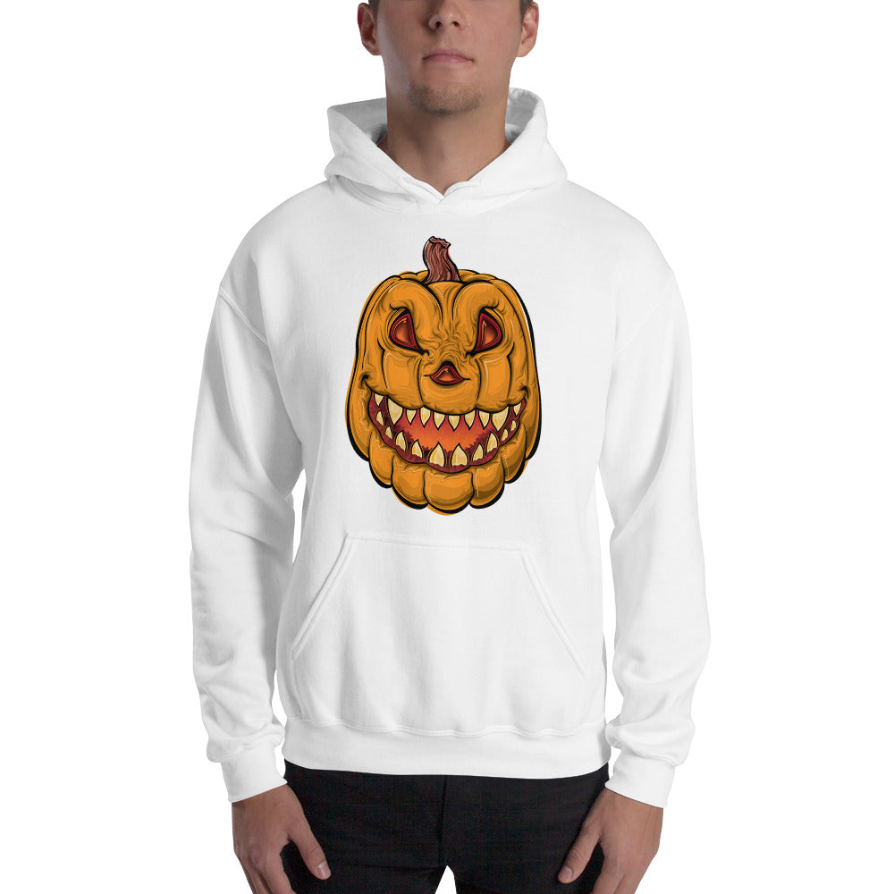 Halloween Evil Pumpkin - Hooded Sweatshirt - Design Forms Of Art