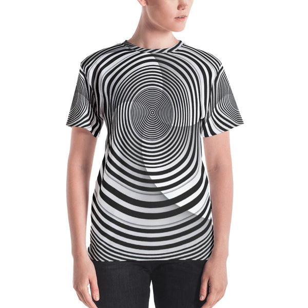 Hypno Circle - Sew Women's T-shirt - Design Forms Of Art