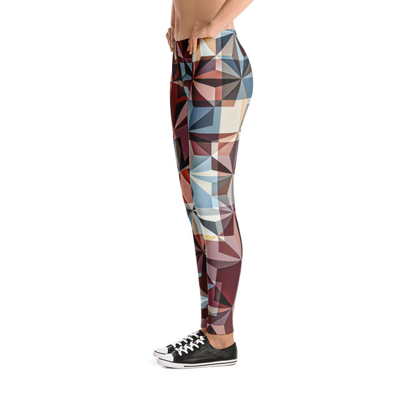 Hipster Trianguallization - Leggings - Design Forms Of Art