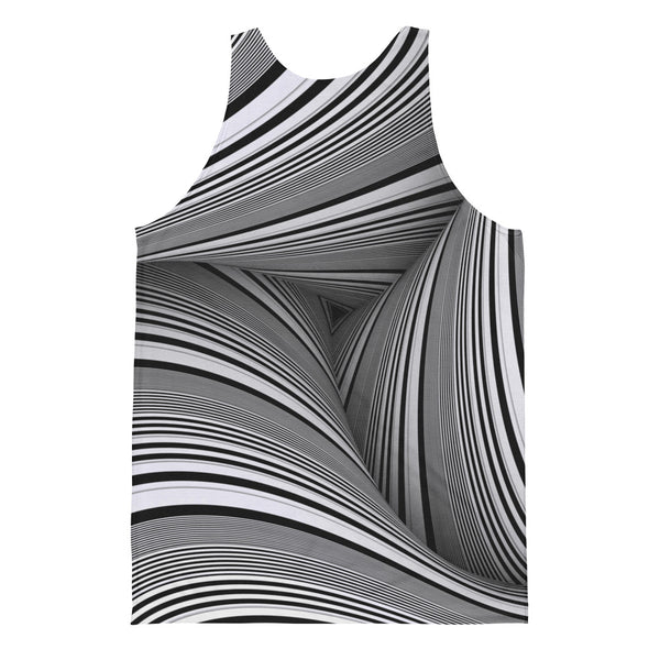 Twisted - Unisex Classic Fit Tank Top - Design Forms Of Art