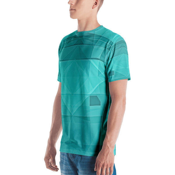 Green Crystallization - Sew Men's T-Shirt - Design Forms Of Art