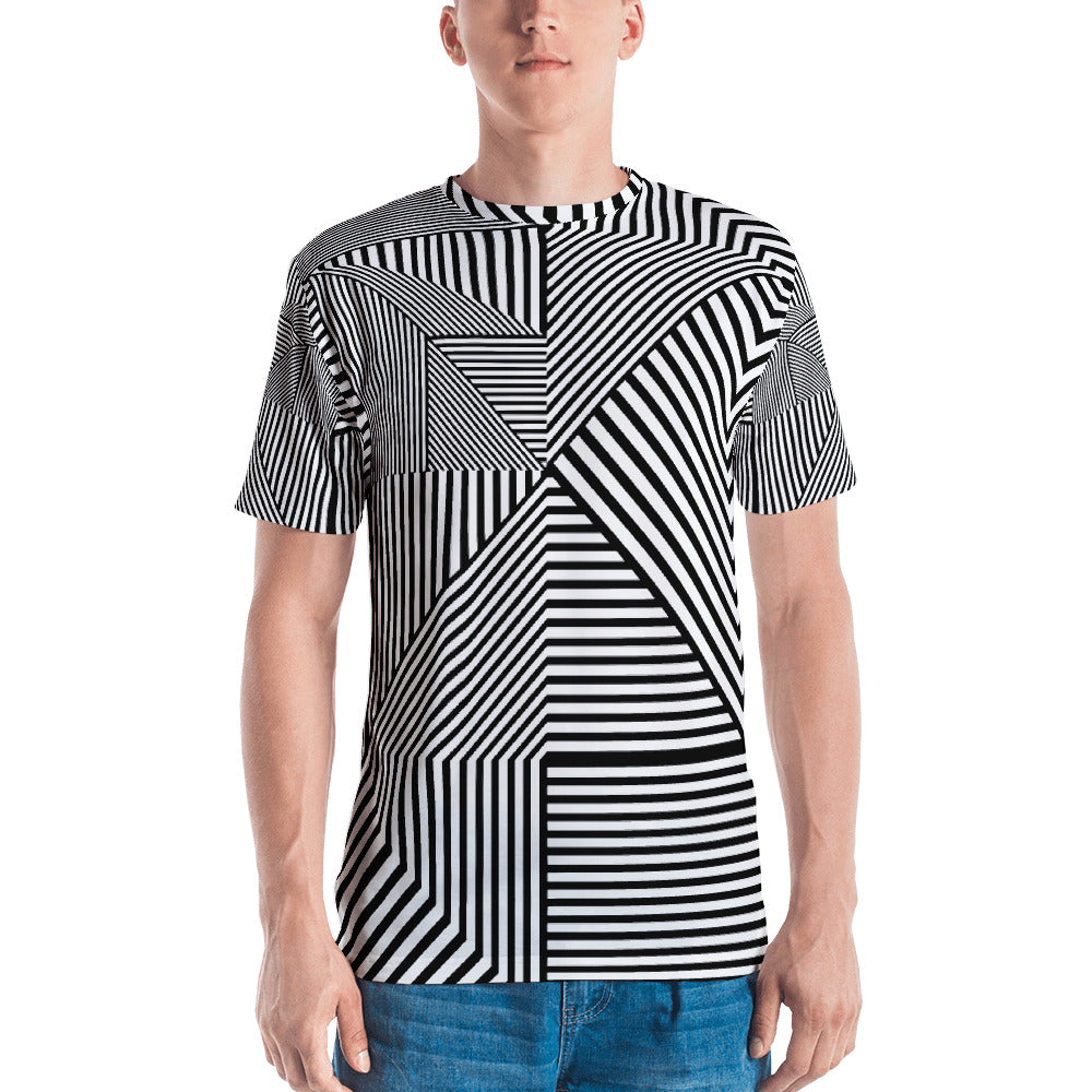Madness Line - Sew Men's T-Shirt - Design Forms Of Art